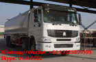SINO TRUK HOWO 8x4 LHD/RHD water tank truck,water deliverytruck,water bowser truck for sale, cistern tank truck