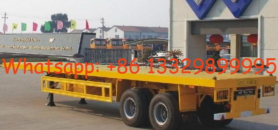 20FT 2 axles flatbed container semi-trailer