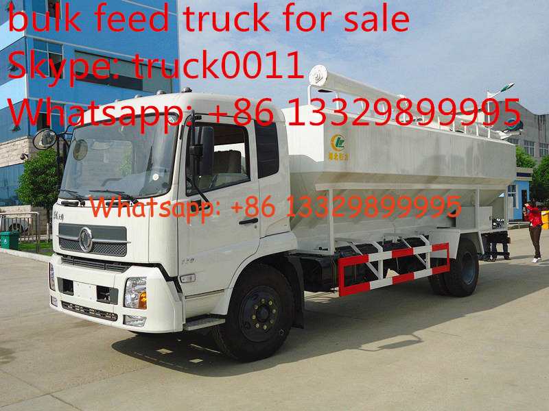 Dongfeng 4x2 bulk feed delivery truck, hydraulic/eletronic discharge