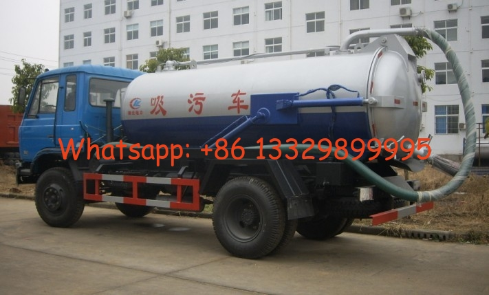 factory sale best price dongfeng 4*2 LHD 170hp vacuum tank truck, HOT SALE! cheaper dongfeng sludge tank truck