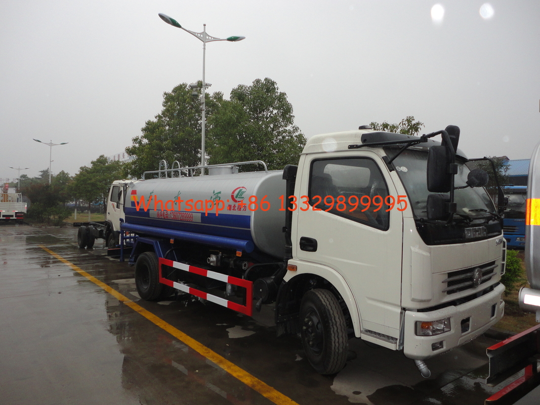 factory sale best price 7,000Liters water tank truck, 2017s cheapest price dongfeng 4*2 LHD/RHD 7m3 cistern truck