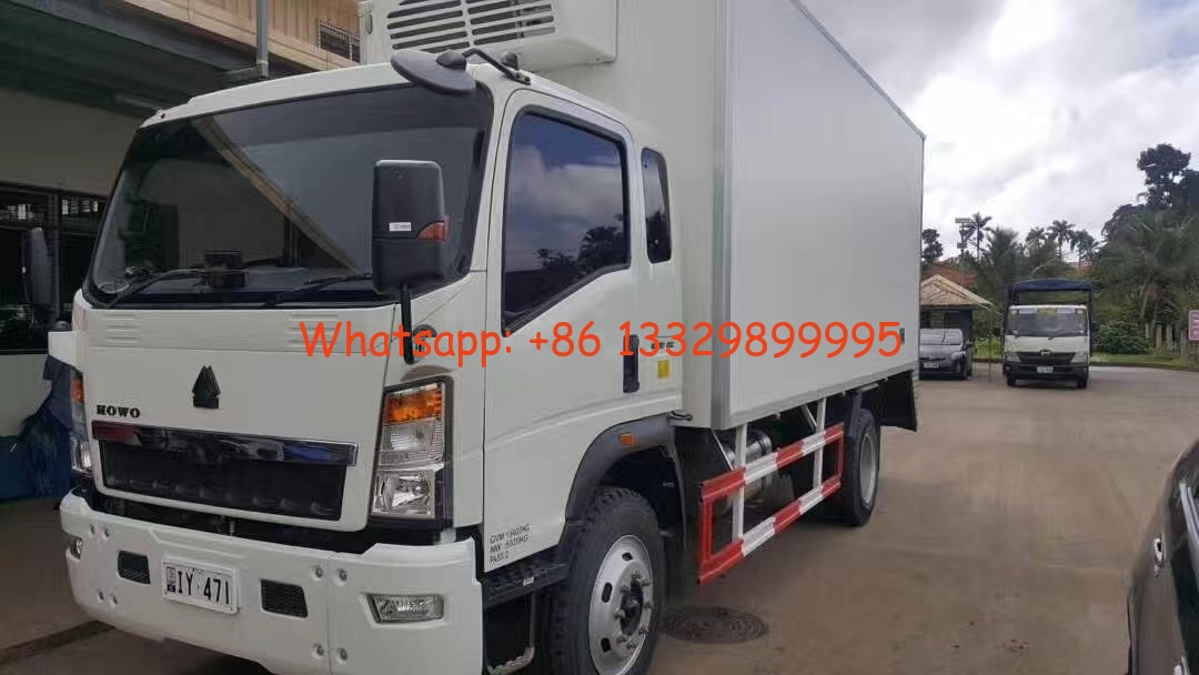2020s SINO TRUK HOWO 4*2 RHD 3-5tons refrigerated truck for sale, HOT SALE! bottom price HOWO 5tons cold room truck