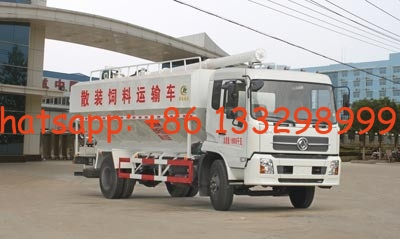 China Chinamade Dongfeng 4*2 bulk feed transporting vehicle(CLW5161ZSLD4), 10tons best price feed fodder transported truck distributor