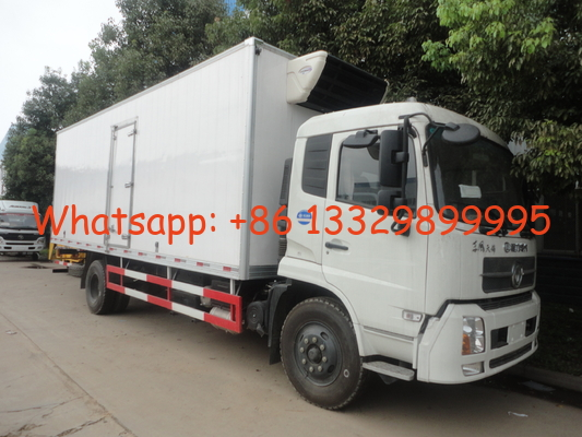 factory direct sale best price Dongfeng tianjin 4*2 cold room truck, cheapest price 10tons dongfeng refrigerated truck