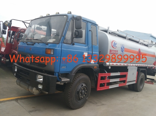 China Dongfeng 145 9.74cbm aluminum alloy aircraft refueling tank truck for sale, best price dongfeng 10m3 fuel tank truck factory