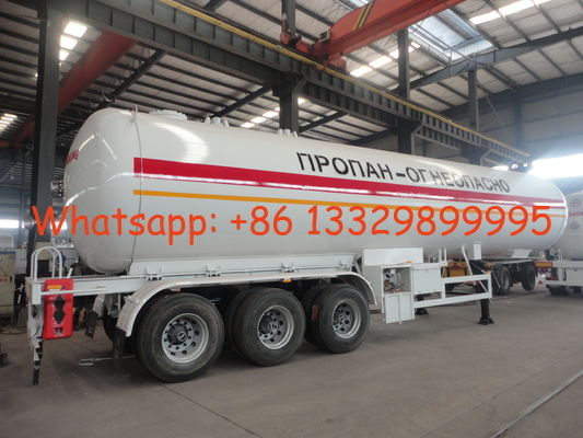 China 2020s new best price 49.6cbm LPG gas semitrailer for sale, factory sale cheapest price 20tons road transported lpg tank distributor