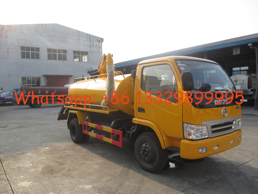 China factory sale best price Dongfeng 4*2 1.5ton fecal suction truck, HOT SALE! dongfeng 3,000Liters vacuum truck distributor