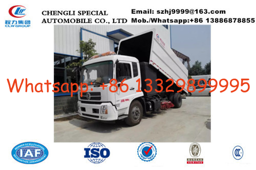 China Factpry sale dongfeng tianjin 4*2 LHD street sweeping vehicle, Factory sale best price dongfeng road cleaning vehicle factory