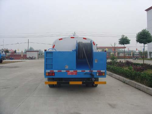 Dongfeng long long head 4.4cbm high pressure cleaning truck