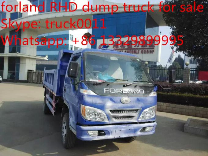 forland 4*2 LHD 3tons-5tons dump tipper truck, high quality and competitive price forland 5ton dump truck for sale