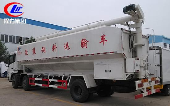 dongfeng tianlong 6*2 30cbm animal feed delivery truck for sale. dongfeng LHD 15tons-20tons famr-oriented feed truck