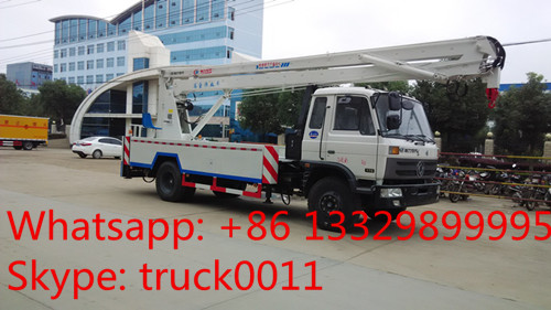 Dongfeng 4*2 RHD 18M aerial working truck(CLW5101JGKT4) for sale, best price dongfeng 4*2 high altitude operation truck