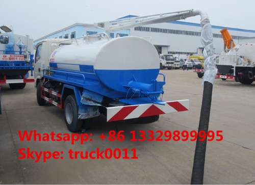 2017s best prcie Forland 4*2 LHD 5,000Liters fecal suction truck for sale, factory sale best price Forland vacuum truck