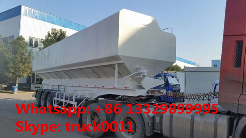 2019s best price CLW brand 40-60m3 poultry feed semitrailer for sale, factory direct price farm-oriented feed trailer
