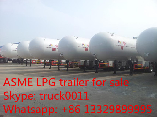 CLW brand 3 axle 56cbm liquefied petroleum gas transport semi-trailer for sale, factory sale 56m3 lpg gas tank trailer