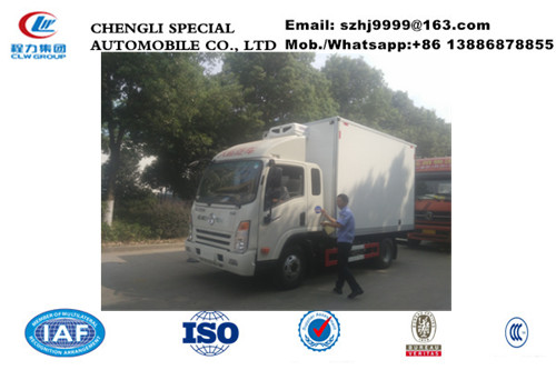 Wholesale best price China-made Dayun diesel 3-5tons refrigerator truck, HOT SALE! cheaper Dayun cold room truck